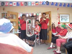 We were lucky to have members of the Tongan Community entertain us.